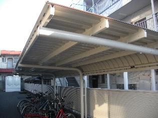 自転車置場施工後