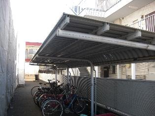 自転車置場施工前